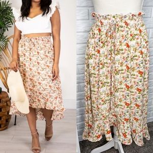 Pink Lily Caitlin Covington NEW Floral Maxi Skirt